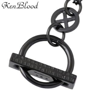 KEN BLOOD ケンブラッド シルバー ネックレス メンズ レディース サイクル Sブラックコーティング KB-KP-283BK