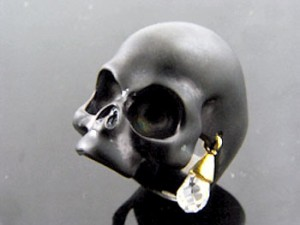 KEN BLOOD ケンブラッド シルバー リング 指輪 メンズ レディース キュービックジルコニア スカル 髑髏ドクロ骸骨 KB-KR-192