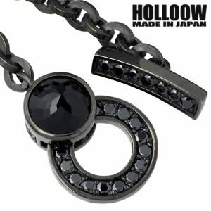 HOLLOOW ホロウ シルバー ブレスレット メンズ チェーン キュービック ot KHP-127BK