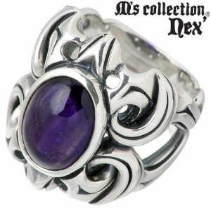 M's collection エムズコレクション シルバー リング 指輪 メンズ ストーン 7月 誕生石L-506