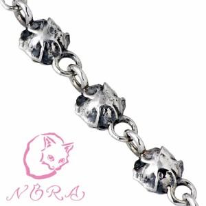 NORA ノラ ブレスレット レディース シルバー 小さな薔薇のブレス バラ Mサイズ NR-B-0001-M 送料無料