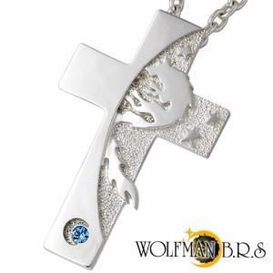 WOLFMAN B.R.S ウルフマン シルバー ネックレス メンズ ムーンシャドウクロス NW-P-06-CL100