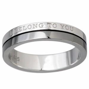 close to me クロストゥーミー リング 指輪 メンズ シルバー メッセージ SR13-015BK 送料無料 刻印可能