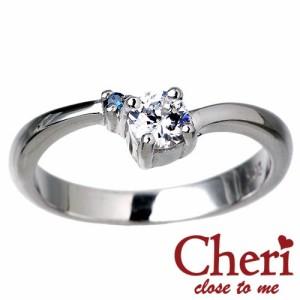 リング 指輪 レディース Cheri シェリ close to me シルバー ブルーダイヤモンド キュービックジルコニア sv SR36-001