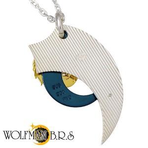 WOLFMAN B.R.S ウルフマン シルバー ネックレス メンズ ムーンウルフXクローチタン WO-P-151