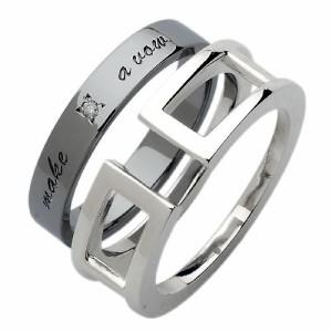 リング 指輪 ペアー white clover ホワイトクローバー シルバー ダイヤモンドセパレート RT WSR223-P