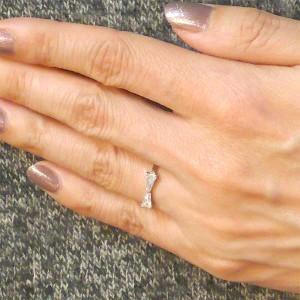 Prie プリエ ステンレス リング 指輪 金属アレルギー対応 レディース リボン キュービック 3〜13号 GRSS418ST アクセサリー
