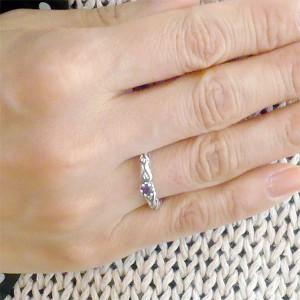 K-SMITH ケースミス リング 指輪 レディース シルバー 2月 誕生石 アメジスト 7〜13号 KS-00188-2