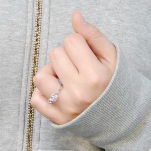 天使の卵 リング 指輪 レディース シルバー 夢の花 キュービックハート tenshi-2136PT