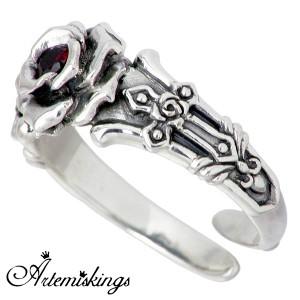 Artemis Kings アルテミスキングス クリムゾンローズ クラウン シルバー リング 指輪 キュービック メンズ レディース 王冠 AKR0034