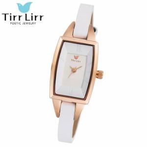 TirrLirr ティルリル 腕時計 ジュエリー ウォッチ レディース 革ベルト ホワイト ブランド TWC-003WH