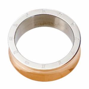 リング 指輪 メンズ ステンレス 医療用サージカル316Lステンレス アレルギーフリー 凹 RSCL07【即納】17号