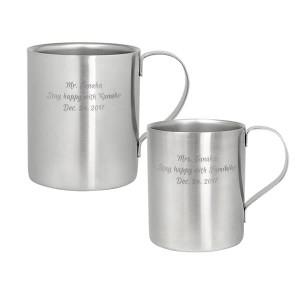【結婚祝い】【名入れ無料】ペアマグカップ ダブルウォールステンレス
