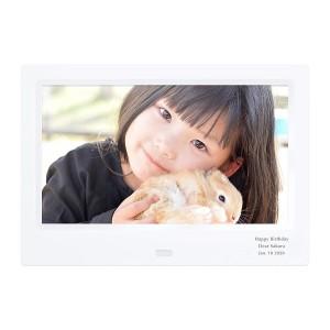【名入れ写真立て】【インテリアを父の日に贈る】【名入れ無料】デジタルフォトフレーム ホワイト【送料無料】