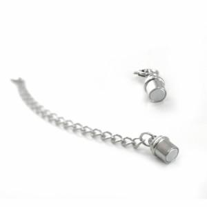 アクセサリーパーツ ネックレス・ブレスレット用マグネット付き アジャスター 磁石付き ハンドメイド 手芸 パーツ サージカルステンレス