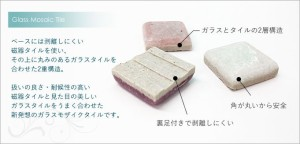 《即日出荷》シール付きモザイクタイルシート/デコレ[ミックス金平糖:1枚]