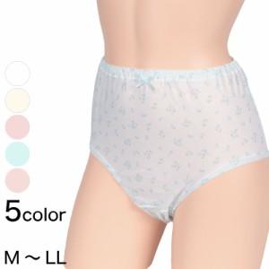 おへそが出ない プリント大寸ショーツ (MLL)(日本製 肌着 下着パンツ レディース 大きいサイズあり)SG (在庫限り)