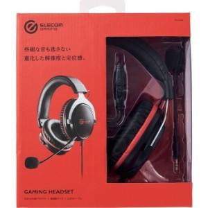 エレコム 【送料無料】HS-G40BK ゲーミングヘッドセット/HS-G40/オーバーヘッド/ブラック (HSG40BK)