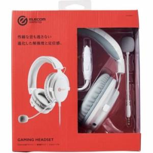 エレコム 【送料無料】HS-G40WH ゲーミングヘッドセット/HS-G40/オーバーヘッド/ホワイト (HSG40WH)