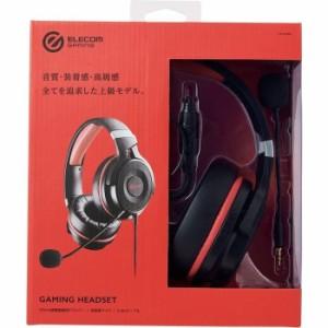 エレコム 【送料無料】HS-G60BK ゲーミングヘッドセット/HS-G60/オーバーヘッド/ブラック (HSG60BK)
