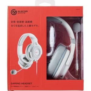 エレコム 【送料無料】HS-G60WH ゲーミングヘッドセット/HS-G60/オーバーヘッド/ホワイト (HSG60WH)