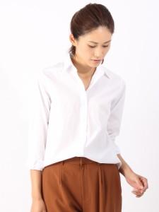 SALE/シャツ/ブラウス/レディース/destyle/GIZAコットンブロード レギュラーカラー長袖シャツ