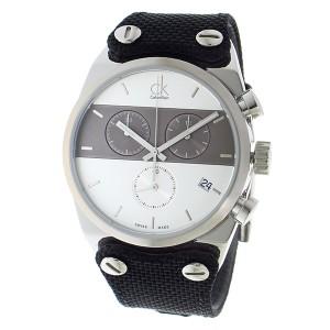 カルバンクライン メンズ 腕時計/Calvin Klein クロノグラフ 腕時計 シルバー/ガンメタ