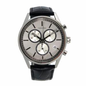 カルバンクライン メンズ 腕時計/Calvin Klein クロノグラフ レザー 腕時計 シルバー