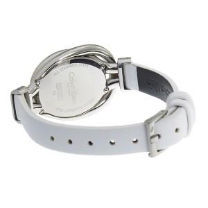 カルバンクライン レディース 腕時計/Calvin Klein レザー 腕時計 ホワイト