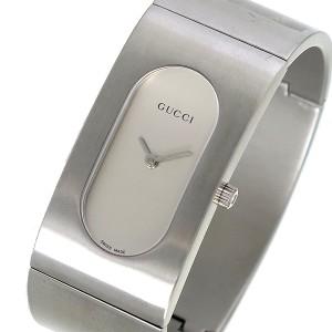 cc85585108b7 レビューで次回2000円オフ 直送 グッチ GUCCI バングル型 クオーツ レディース 腕時計 GQ2405P シルバー