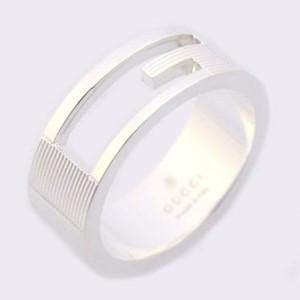 72789a7b8d60 グッチ レディース&メンズ リング 指輪6号/GUCCI ロゴ リング 指輪 シルバー