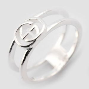 8a8e55c714 グッチ レディース&メンズ リング 指輪7号/GUCCI ロゴ リング 指輪 シルバー