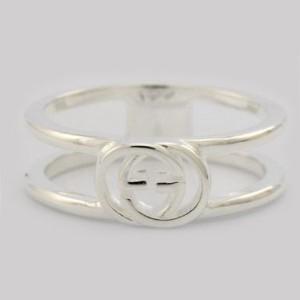 58138a4b03a9 [即日発送]グッチ レディース&メンズ リング 指輪8号/GUCCI ロゴ リング 指輪 シルバー