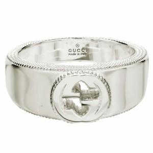 0b165959f550 グッチ レディース&メンズ リング 指輪8号/GUCCI シルバー フラットバンド リング 指輪