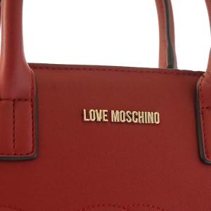 ラブモスキーノ レディース ショルダーバッグ ハンドバッグ/LOVE MOSCHINO EMBOSSEDHEART ショルダーバッグ ハンドバッグ レッド