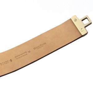 [即日発送]メゾンボワネ レディース ブレスレット バングルMサイズ/MaisonBoinet 40mm レザー ゴールド ブレスレット バングル