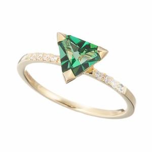 [即日発送]マレアリッチ レディース リング 指輪10号/MareaRich Natural Triangle Green Ring リング 指輪