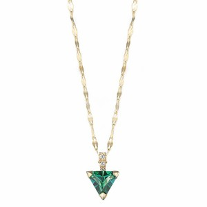 [即日発送]マレアリッチ レディース ペンダント ネックレス/MareaRich Natural Triangle Green Necklace ペンダント ネックレス