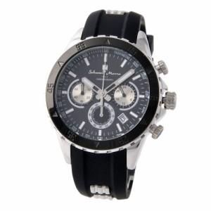 [即日発送]サルバトーレマーラ メンズ 腕時計/SalvatoreMarra クロノグラフ 腕時計 ブラック クリスマス