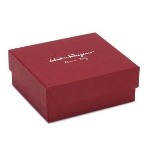 サルヴァトーレフェラガモ レディース&メンズ 二つ折り財布/SalvatoreFerragamo レザー ダークパープル  卒業祝入学祝プレゼント