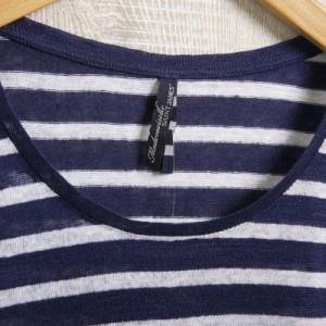 セントジェームス レディース ボーダーシャツ カットソーT38サイズ/SAINT JAMES ボーダー Uネック 長袖  卒業祝入学祝プレゼント
