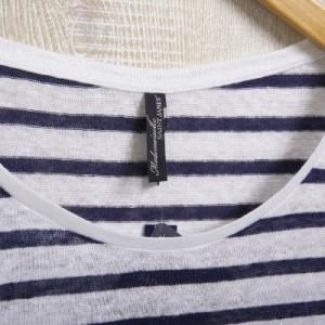 セントジェームス レディース ボーダーシャツ カットソーT46サイズ/SAINT JAMES ボーダー Uネック 長袖  卒業祝入学祝プレゼント