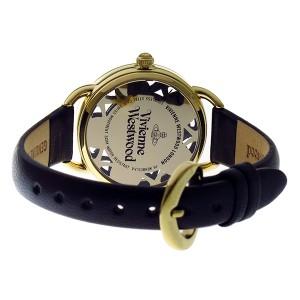 ヴィヴィアンウエストウッド レディース 腕時計/VIVIENNE WESTWOOD レザー 腕時計 ブラック