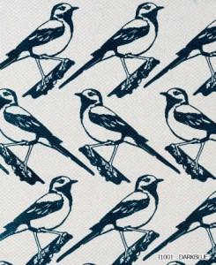 イヴァナヘルシンキ デザインカーテン 洗える 遮光 日本製 既製サイズ 約幅100×丈135cm リントゥ (Lintu) (S) 形状記憶加工