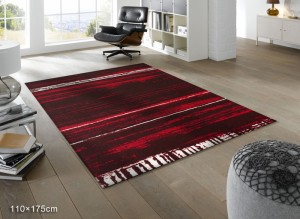Wash+dry クリーンテックス Abadan red アバダン レッド K021I (R) 約110×175cm フロアマット ラグ 屋外 屋内