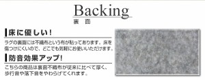 コットンラグ 天然素材 綿ラグマット クレール(N) 約185×185cm