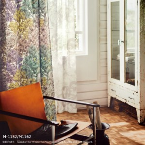 【 洗える ディズニー カーテン 】 既製サイズ 約幅100×丈178cm プーさん ワンダーフォレスト 遮光 ドレープ 森林