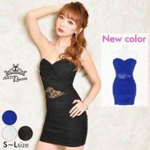 f02d8b47c1055 ドレス キャバ ワンピース 大きいサイズ SMLサイズ ウエスト透けモノトーンベアタイトミニドレス キャバドレス 3