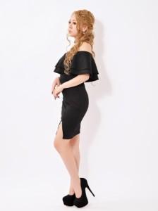 ドレス キャバ ワンピース 大きいサイズ SMLサイズ ワンカラーオフショルダータイトミニドレス キャバドレス 1/22新作