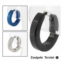 シンプルフープステンレスピアス(1P片耳)【ZanipoloTerzini】サージカルステンレス リング ピアス フープ メンズ 片耳 ブランド